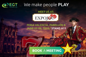 EGT Interactive steps on Spanish land again at ExpoJoc in Valencia.