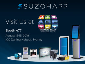 Suzohapp showcases latest cash management solutions at the Australasian Gaming Expo
