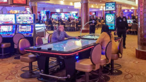 The roulette table T84 pleases the players of Fantasy Springs Resort Casino