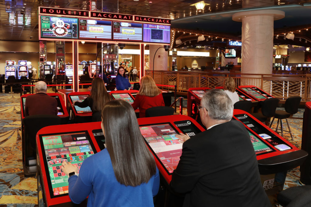 Casino International IGT Dynasty Electronic Table Games And Live - Restaurant table games