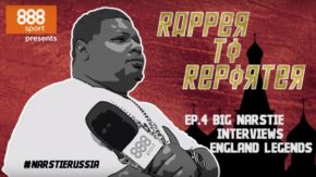 Big Narstie goes under the media spotlight with Lynsey Hipgrave and England Legends