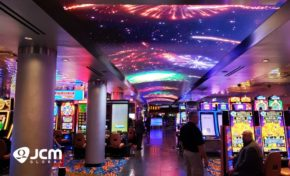 JCM Global Creates Stunning New Experience for MotorCity Casino Hotel's Guests with 80-Foot Curved LED Display on the Ceiling of Promenade
